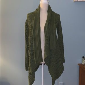 Peruvian Connection Chunky Cable Knit Cardigan